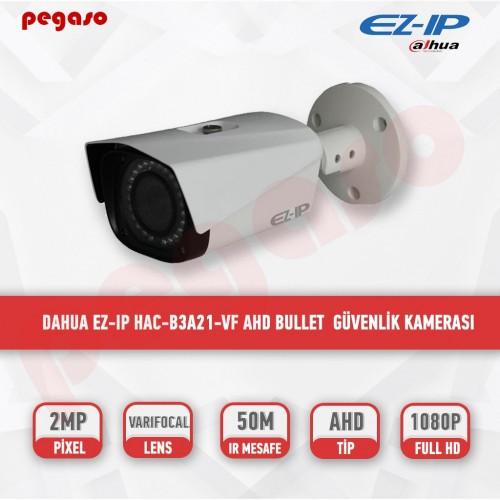 DAHUA EZ-IP  HAC-B3A21-VF 2 MP 2.7-13,5 MM VARİFOKAL AHD BULLET KAMERA