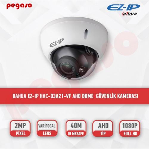 DAHUA EZ-IP  HAC-D3A21-VF 2 MP 2.7-13,5 MM VARİFOKAL HDCVI DOME KAMERA