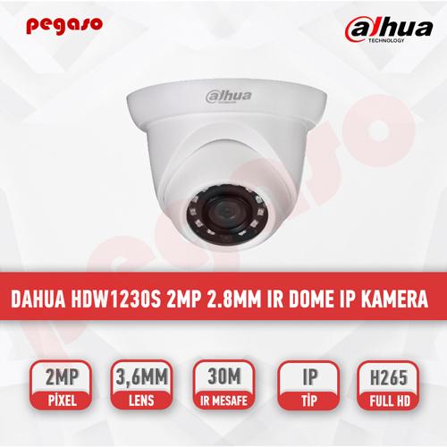 DAHUA HDW1230S 2MP 2.8mm IR Dome IP Kamera