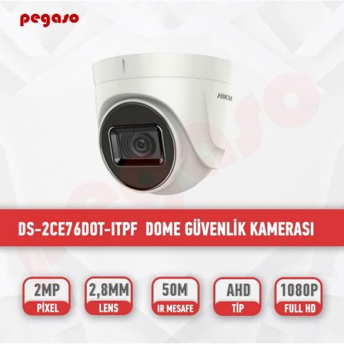 HIKVISION DS-2CE76DOT-ITPF TVI 2.8 MM DOME KAMERA