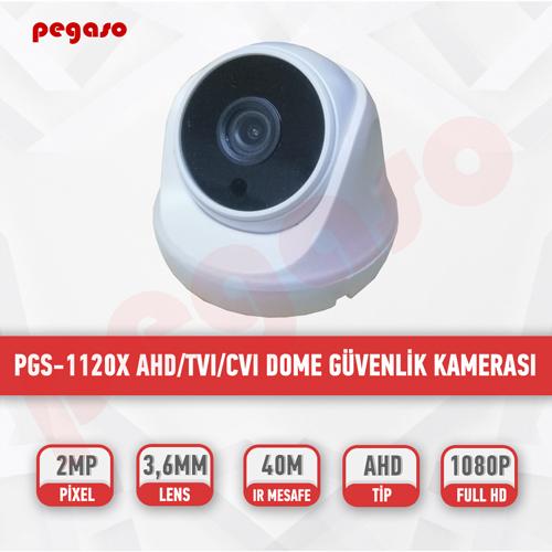PEGASO PGS-1120x 2 MP, 3.6 MM, 36 IR LED, AHD DOME GÜVENLİK KAMERASI