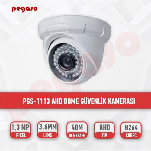 PEGASO PGS-1113 1.3 MP, 3.6MM, 36 IR LED, AHD DOME GÜVENLİK KAMERASI