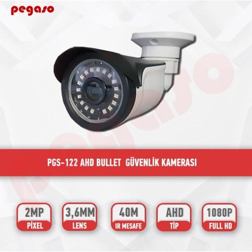 PEGASO PGS-122 2 MP, 3.6 MM, 18 SMART LED, AHD/CVBS/TVI/CVI GÜVENLİK KAMERASI