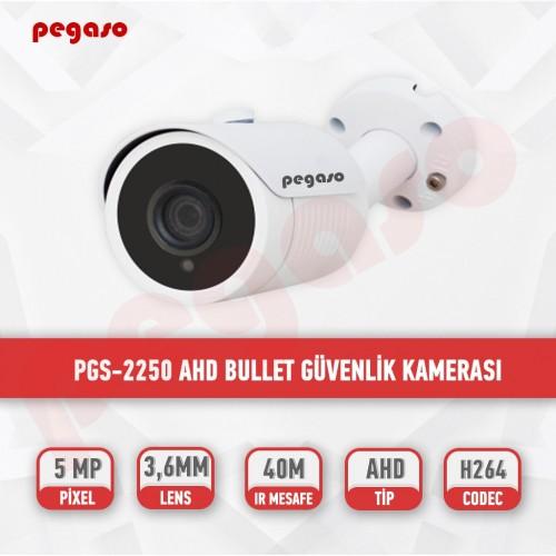 PEGASO PGS-2250 5 MP, 3.6 MM AHD BULLET GÜVENLİK KAMERASI