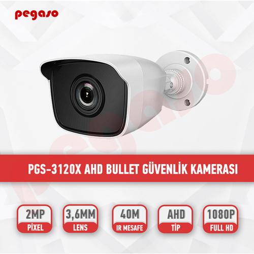 PEGASO PGS-3120X 2 MP, 3.6 MM, 36 IR LED, AHD GÜVENLİK KAMERASI