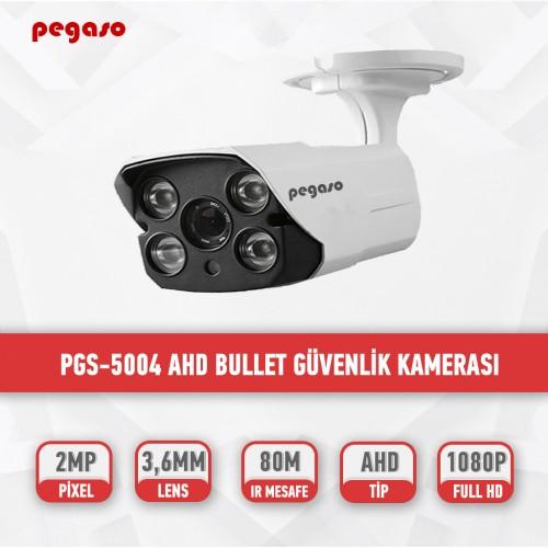 PEGASO PGS-5004 2 MP, 3.6 MM, 4 MEGA LED, AHD BULLET GÜVENLİK KAMERASI