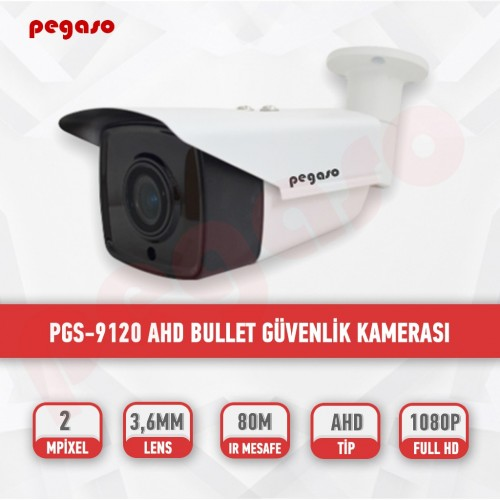 PEGASO PGS-9120 2 MP, 3.6 MM, 4 MEGA LED, AHD BULLET GÜVENLİK KAMERASI