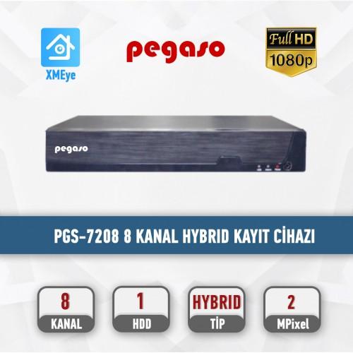 PEGASO PGS-7208 8 KANAL 1080N XMEYE H.265 5 IN 1 AHD-IP-HDTVI-HDCVI-ANALOG KAYIT CİHAZI