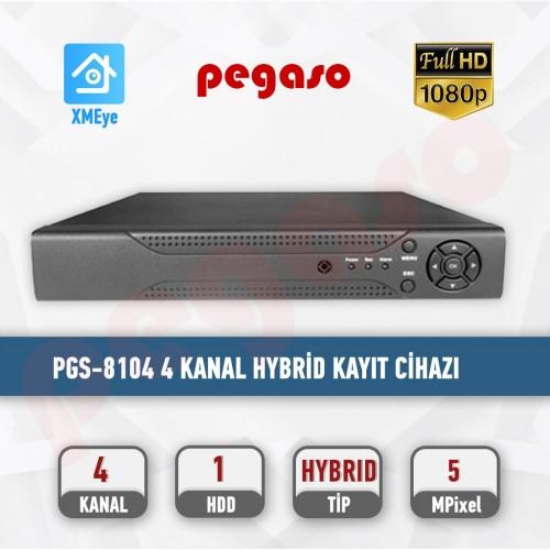 PEGASO PGS-8104 4 KANAL XMEYE  H.265  5MP / 1080P AHD-IP-HDTVI-HDCVI-ANALOG KAYIT CİHAZI