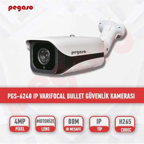 PEGASO PGS-6240-AF 4 MP, 2,7-13,5 MM 4 MEGA LED MOTORİZE LENS IP BULLET GÜVENLİK KAMERASI