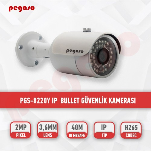 PEGASO PGS-8220Y 2 MP, 3.6 MM, 36 IR LED, IP BULLET GÜVENLİK KAMERASI