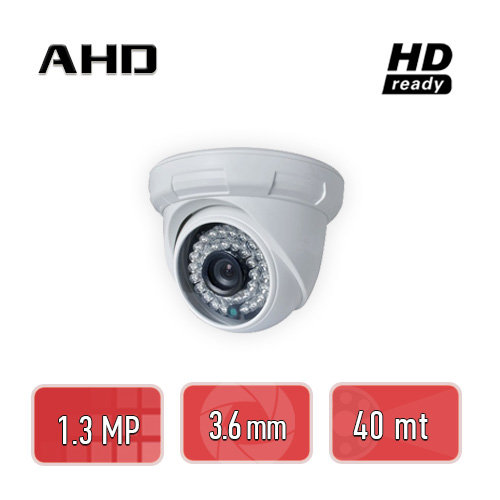 PEGASO PGS-1113 1.3 MP, 3.6MM, 36 IR LED, AHD DOME GÜVENLİK KAMERASI
