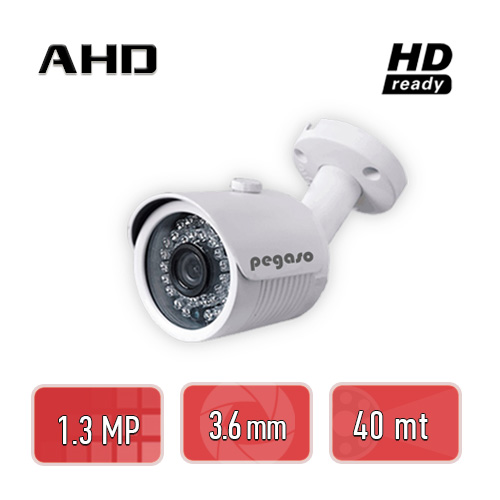 PEGASO PGS-8113 1.3 MP, 3.6 MM, 36 IR LED, AHD BULLET GÜVENLİK KAMERASI