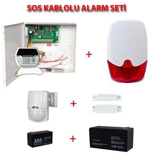 SOS KABLOLU ALARM SETİ FULL SET