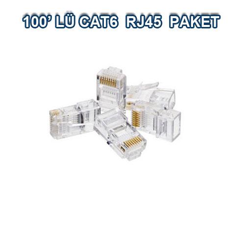 100 ADET CAT6 RJ45 KONNEKTÖR