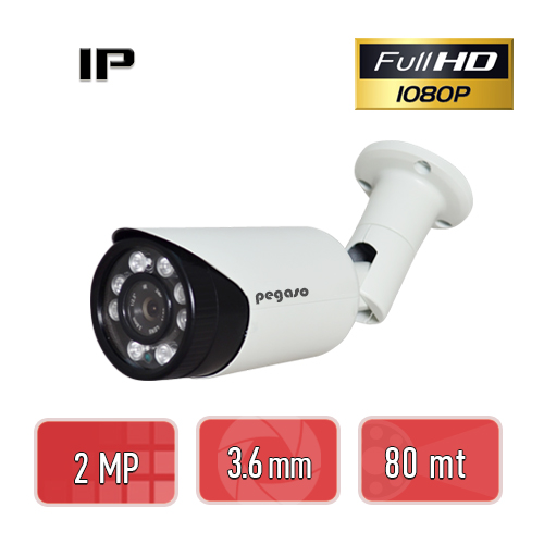 PEGASO PGS-5220 2 MP 3.6 MM, 8 KİNG LED, IP BULLET GÜVENLİK KAMERASI