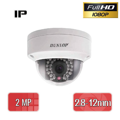 DUNLOP DP-22CD17353F-El 2 MP, 2.8 - 12MM VARIFOCAL 24 IR LED, IP DOME GÜVENLİK KAMERASI