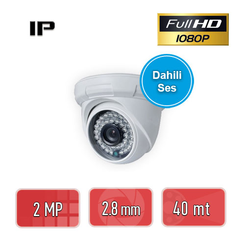 PEGASO PGS-1220DS 2 MP 3,6 MM 36 IR LED IP DAHİLİ SESLİ DOME GÜVENLİK KAMERASI
